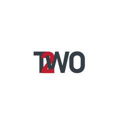 Text logo template number logo text element vector