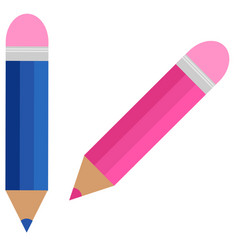 the colored pencils vector image