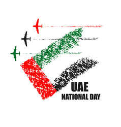 Uae national day poster with planes performing vector