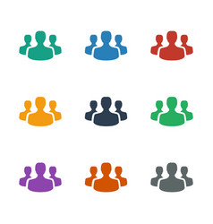 User group icon white background vector