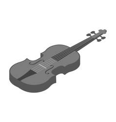 Violin icon in monochrome style isolated on white vector image