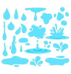 Water splash dripping tear blob and waters vector