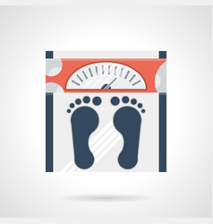 weight loss flat color icon vector image