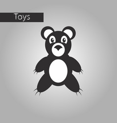 black and white style icon toy bear vector image