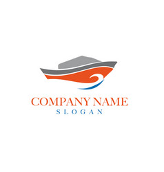 boat logo design 2 vector image