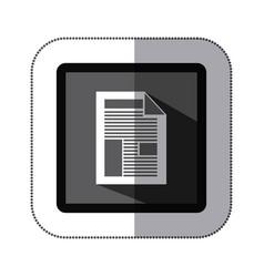 contour information paper icon vector image vector image