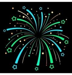 Firework Explosion design on black background vector image