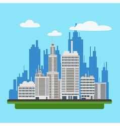 Megapolis Landscape with Modern Buildings vector image vector image
