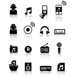 music silhouettes vector image