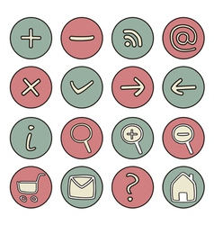 Set of doodle hand drawn icons vector image vector image