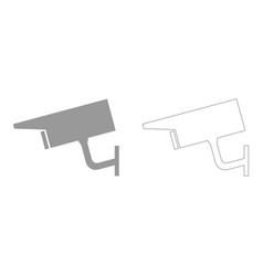 Video surveillance set icon vector