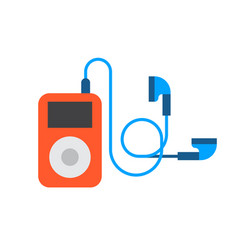 portable device music player cartoon digital vector image