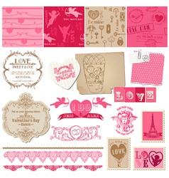 Scrapbook Love Set of design elements vector image vector image