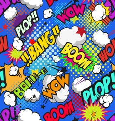Seamless pattern boom backgrounds vector image