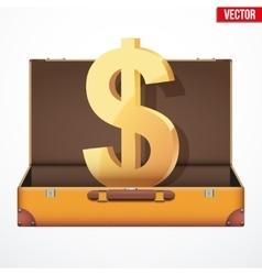 Suitcase money vector image