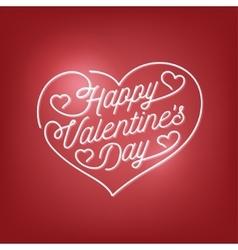 Valentines day lettering background Vintage vector image vector image