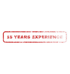 15 years experience rubber stamp vector image vector image