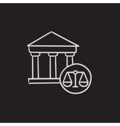 Court sketch icon vector image