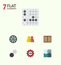 flat icon play set of arrow poker people and vector image vector image