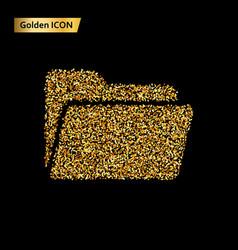 folder icon gold vector image