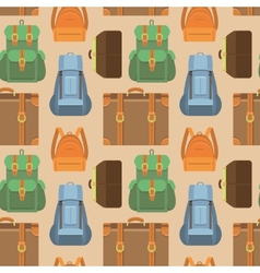 seamless pattern in flat style - travel vector image