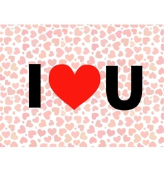 valentine I Love You Lettering with red vector image vector image