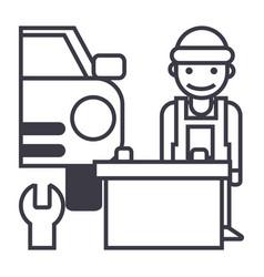 auto service line icon sign vector image