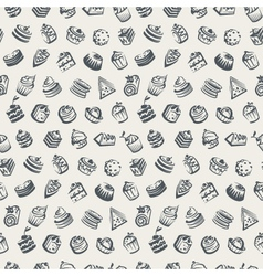 background with cakes vector image vector image