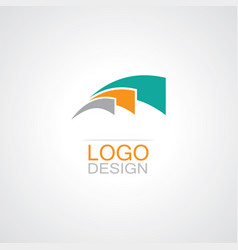 swirl loop abstract logo vector image