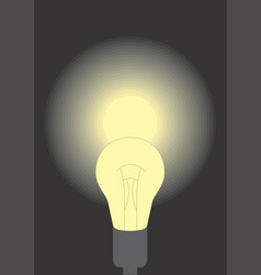 a lit lamp vector image