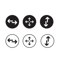 a set of directional arrow icons vector image