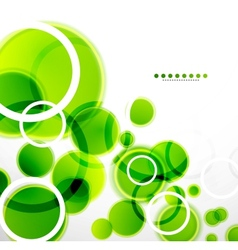 Abstract shapes background green bubbles vector