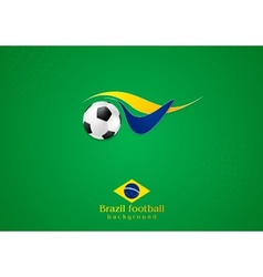 Abstract wavy football logo background vector image