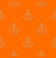 Anchor pattern orange vector