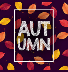 autumn background with falling leaves vector image
