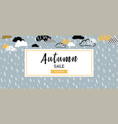 Autumn sale background banner for shopping sale vector