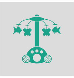 Baby carousel icon vector image