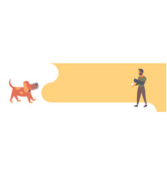 bearded man dog trainer holding ball wearing vector image