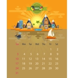 Calendar of july vector