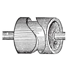Cam wheel vintage vector