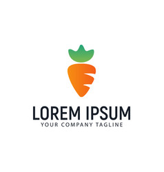 carrot logo design concept template vector image