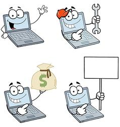 Cartoon laptops vector