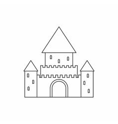 Chillon Castle Switzerland icon outline style vector