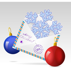 Christmas mailing envelope vector