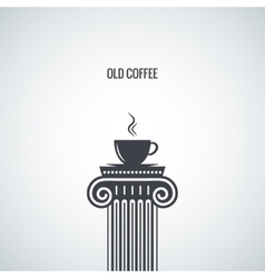 Coffee cup classic design background vector