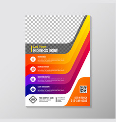 colorful business brochure designs template vector image