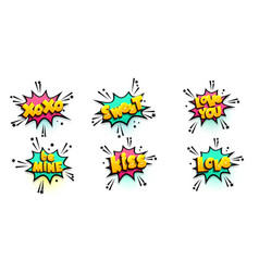 Comic text speech bubble pop art style vector