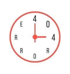 concept error 404 with red watches vector image