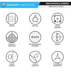 Concept Line Icons Set 14 Math vector image