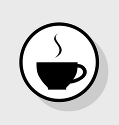 cup sign with one small stream of smoke vector image